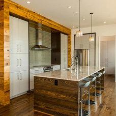 Transitional Kitchen by Jones Pierce Architects