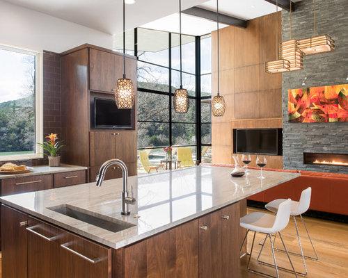 moderne k chen mit quarzit arbeitsplatte ideen bilder. Black Bedroom Furniture Sets. Home Design Ideas