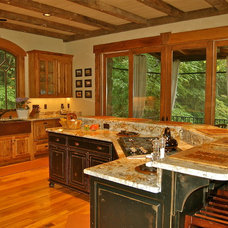 Eclectic Kitchen by Ariam Interiors