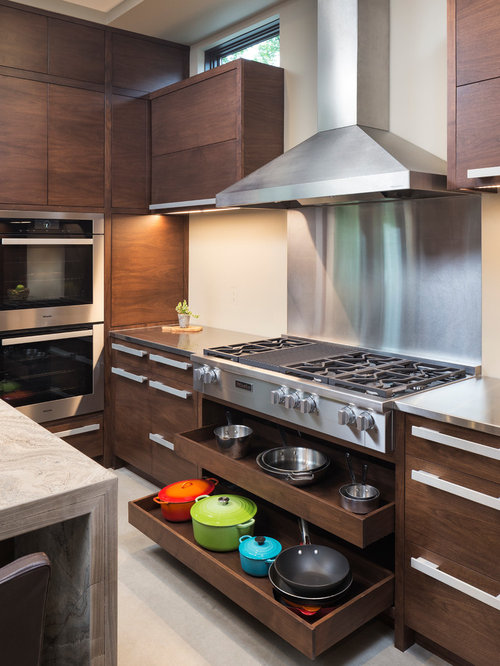 Small modern kitchen design ideas remodel pictures houzz for Small modern kitchen ideas