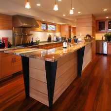 Eclectic Kitchen by GMK Architecture Inc