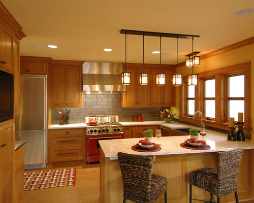 warm kitchen designs houzz