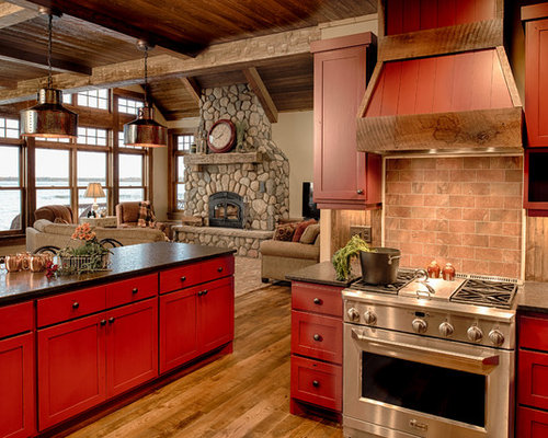 kitchen design ideas renovations photos with terracotta