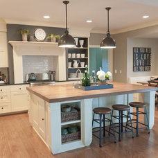 Beach Style Kitchen by Kristin Hoaglund Design