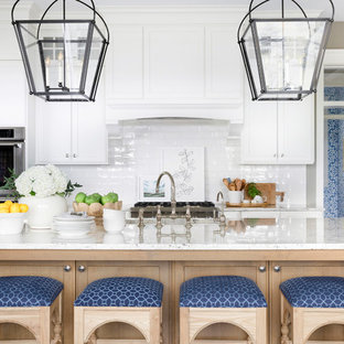 Beach Style Kitchen Remodeling   Coastal Kitchen Photo In Minneapolis With  Recessed Panel Cabinets,