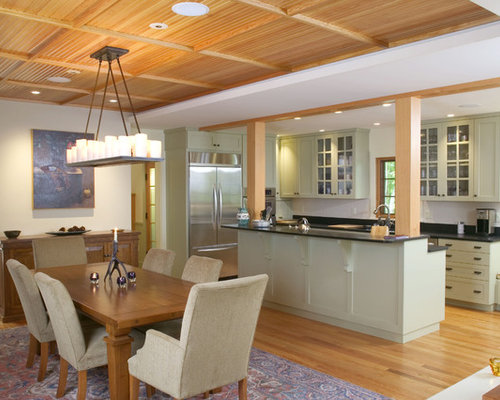 Open kitchen to dining room home design ideas pictures for Kitchen remodel open to dining room