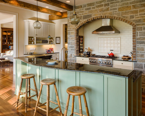 rustic green kitchen cabinets rustic kitchen with green cabinets design ideas amp remodel 25742