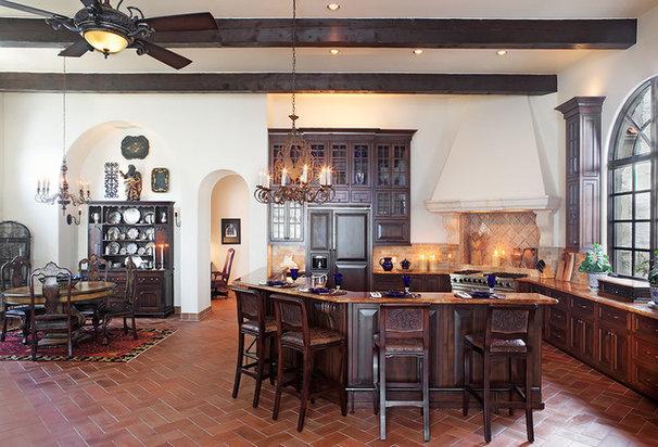 Mediterranean Kitchen by Cornerstone Architects