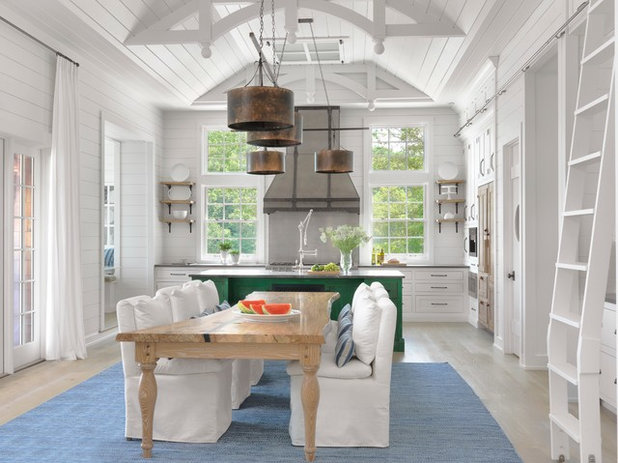 Beach Style Kitchen by Amy Studebaker Design