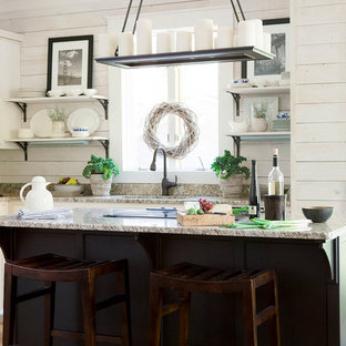 Design ideas for a shabby-chic style kitchen in Atlanta.