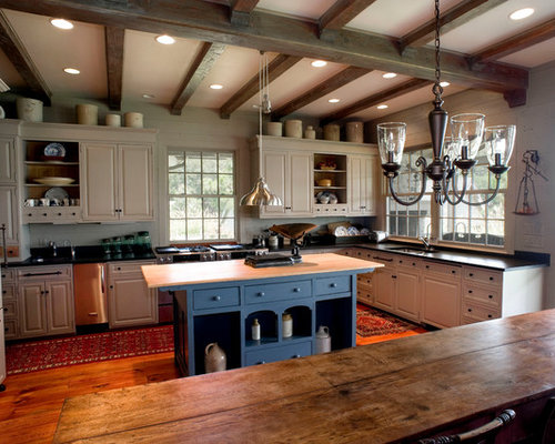 Blue Kitchen Island Home Design Ideas, Pictures, Remodel and Decor
