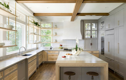 5 Ways to Introduce Windows Behind Kitchen Cabinets