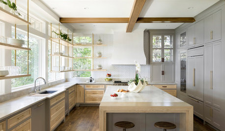 5 Ways to Work in Windows Behind Kitchen Cabinetry