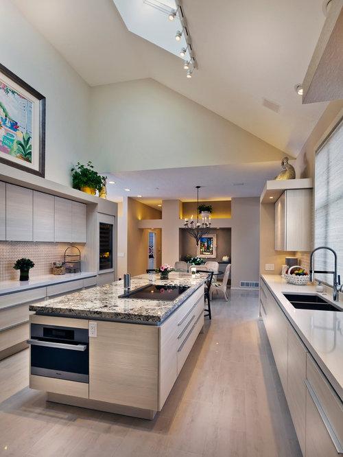 Kitchen design ideas renovations amp photos with porcelain splashback