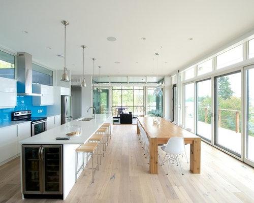 long kitchen island houzz. Black Bedroom Furniture Sets. Home Design Ideas