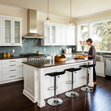 Transitional Kitchen by Jenni Leasia Design