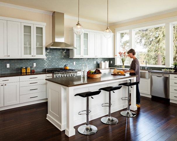 Transitional Kitchen by Jenni Leasia Design