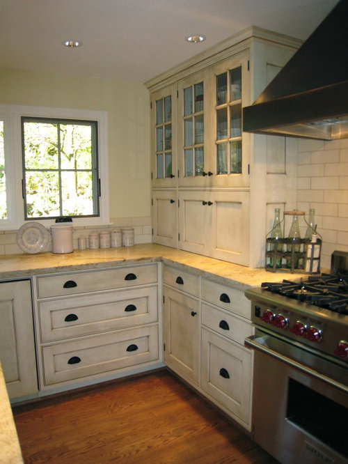 Small appliance storage houzz for Traditional kitchen appliances