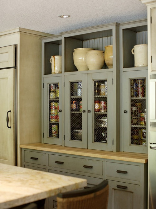 Traditional Kitchen Idea In Portland With Gray Cabinets