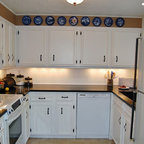 tongue and groove wainscot backsplash - Traditional - Kitchen - Portland - by Designer's Edge ...