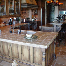 Mediterranean Kitchen by Eagle Designs and Woodworking, Inc.