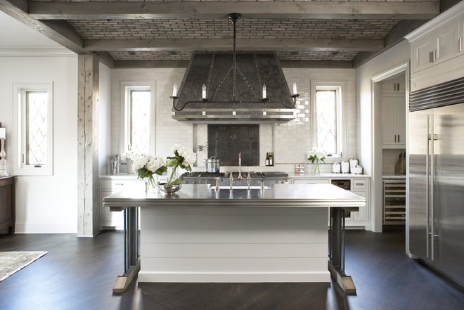 Transitional Kitchen by Linda McDougald Design | Postcard from Paris Home