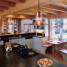 Eclectic Kitchen by Sheldon Pennoyer Architects