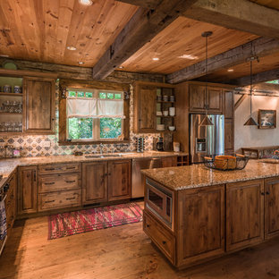 75 Beautiful Rustic Kitchen With Granite Countertops ... on kitchen islands for log homes, cabinets for log homes, kitchen ideas for storage, windows for log homes, kitchen ideas for condominiums, furniture for log homes, accessories for log homes, lighting for log homes, kitchen ideas for metal buildings, kitchen ideas for cabinets, kitchen ideas for remodels, kitchen ideas for paint, kitchen sinks for log homes, kitchen ideas for windows, kitchen log cabin homes, kitchen ideas for countertops, small kitchens for log homes, kitchen backsplash for log homes, doors for log homes, kitchen ideas for flooring,