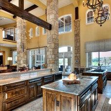 Rustic Kitchen by Premier Windows & Doors