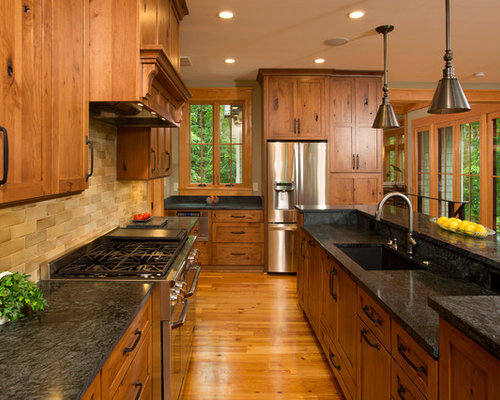 Knotty Hickory Cabinets Houzz