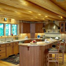 Traditional Kitchen by Katahdin Cedar Log Homes