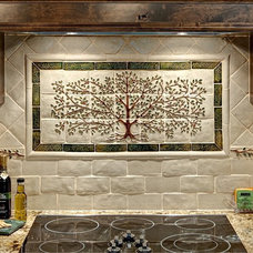 Traditional Kitchen by SoMi Tileworks