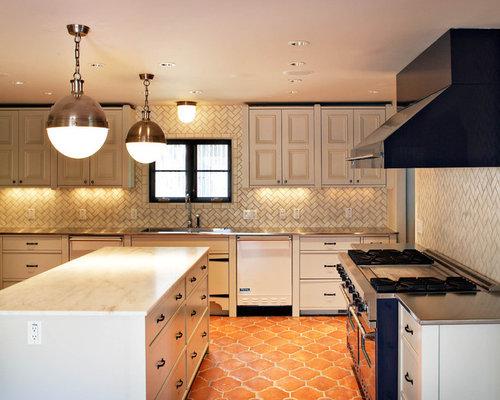 Kitchen Tiles Orange spanish tile floor | houzz