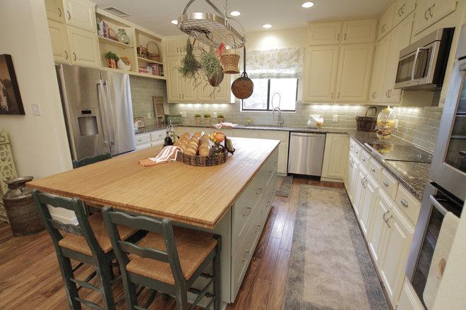 Eclectic Kitchen by Tonya Hopkins Interior Design