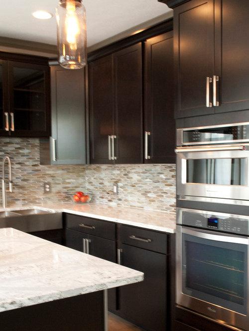 Flat Kitchen Designs: Kitchen Design Ideas, Renovations & Photos With Dark Wood