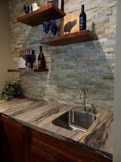 laminate countertops without a self backsplash