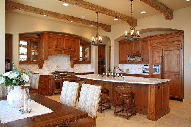 Mediterranean Kitchen by Landmark Builders