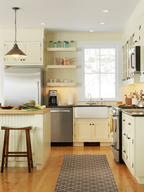 White Beadboard Kitchen Cabinets | Houzz