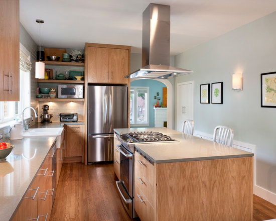 Kitchen Island With Slide In Stove slide-in range | houzz