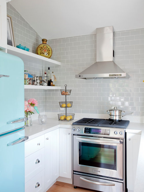 SaveEmail - Gray Subway Tile Backsplash Ideas, Pictures, Remodel And Decor