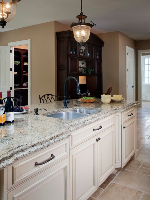 Moon White Granite Kitchen