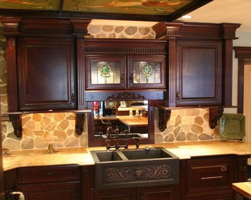 Kitchen Sinks And Bronze Faucets