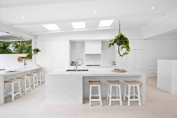 Beach Style Kitchen by Carrera By Design