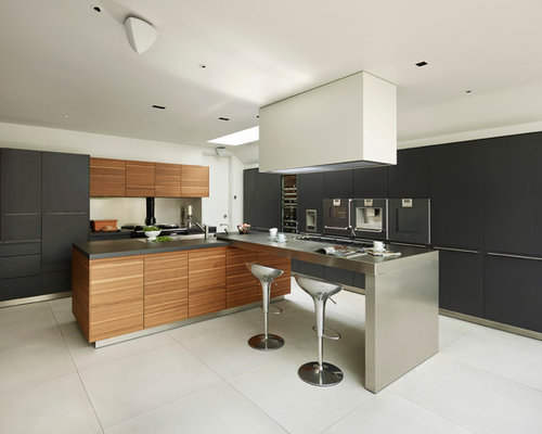 Luxury modern kitchen houzz for Modern large kitchen design