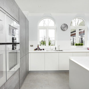 Large Grey Kitchen with Island