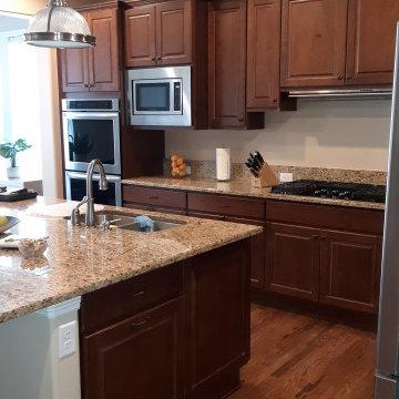 Large island kitchen