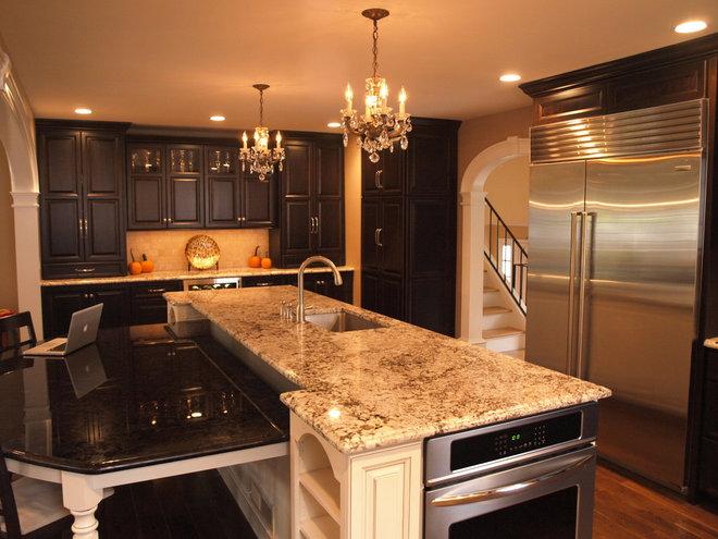 Transitional Kitchen by KraftMaster Renovations