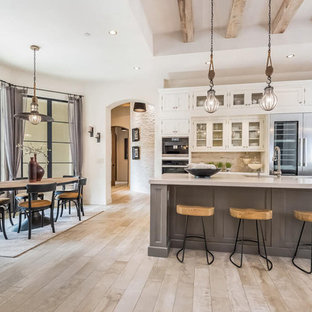Large Traditional Kitchen with White Cabinets