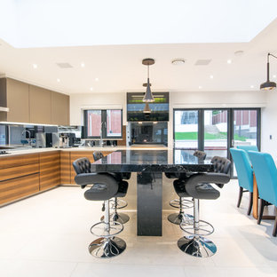 Design ideas for a contemporary kitchen in London.