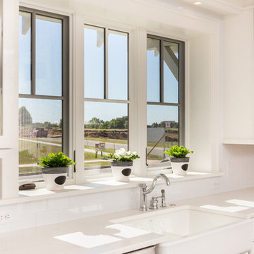 Large Window over Sink with Deep Sill for Decorative Accents